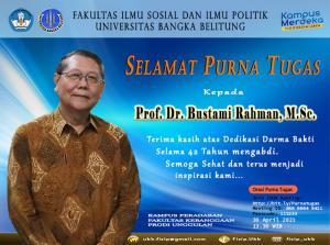Selamat Purna Tugas Prof. Bustami