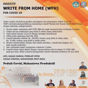 FISIP UBB, Insentif Write From Home (WFH) for Covid-19